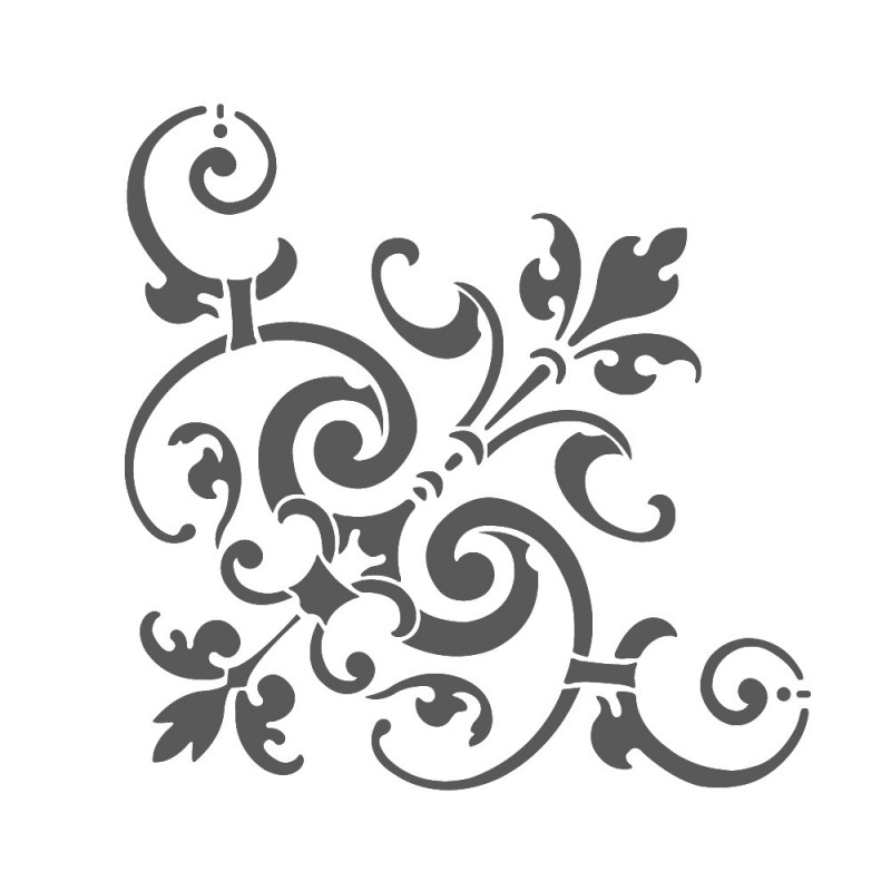 231 Corner Stencil Reusable Template Simone For Wall Diy Decor on wood carving patterns for free