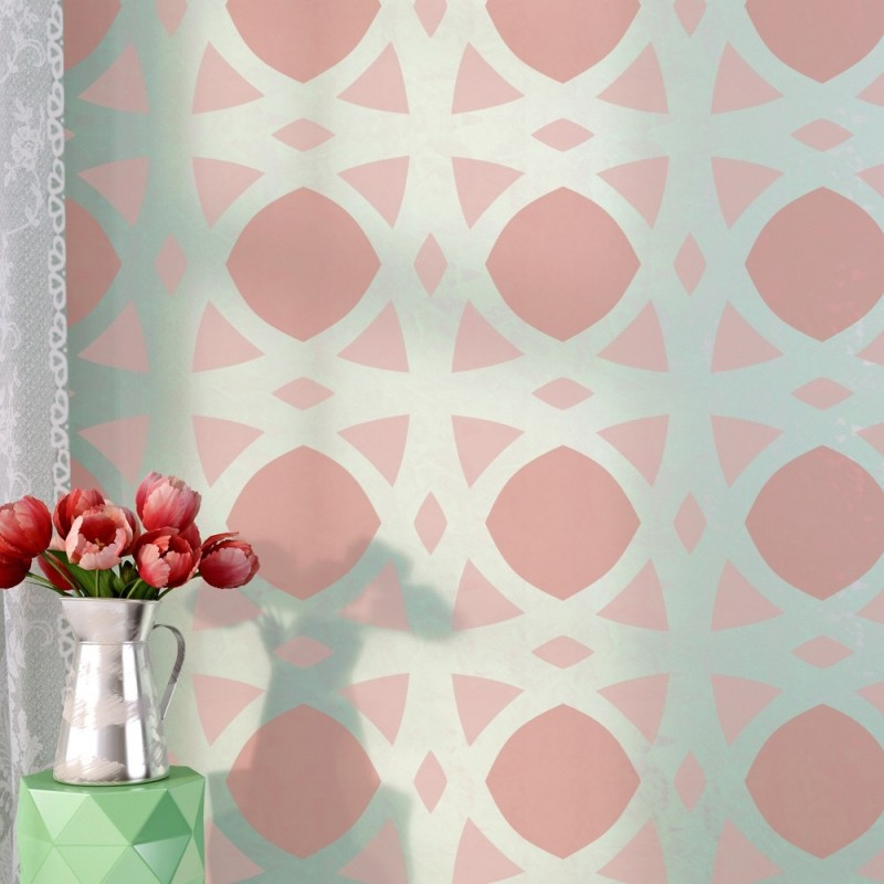Wall Stencil Chanelle for Elegant Easy DIY Wallpaper Decor