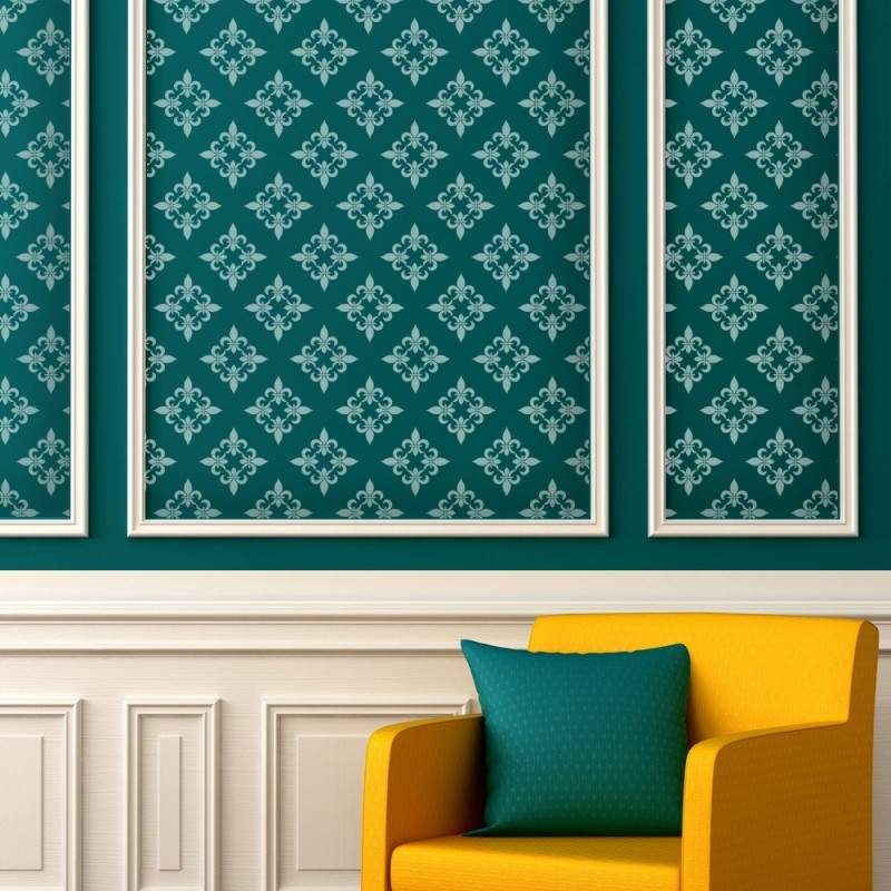 Fleur de lis Wall Stencils - Quatrefoil Moroccan Trellis Lattice - DIY decor