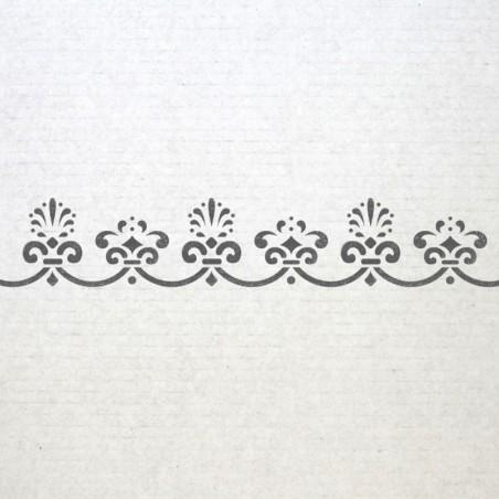 Wall Baroque Border Stencils 003 Pattern Reusable Template