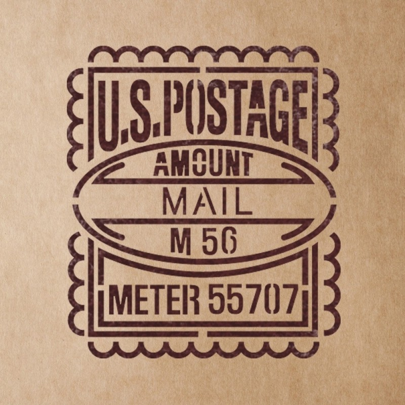 US Postage Mail Stamp Stencils for Crafting Canvas DIY Wall decor