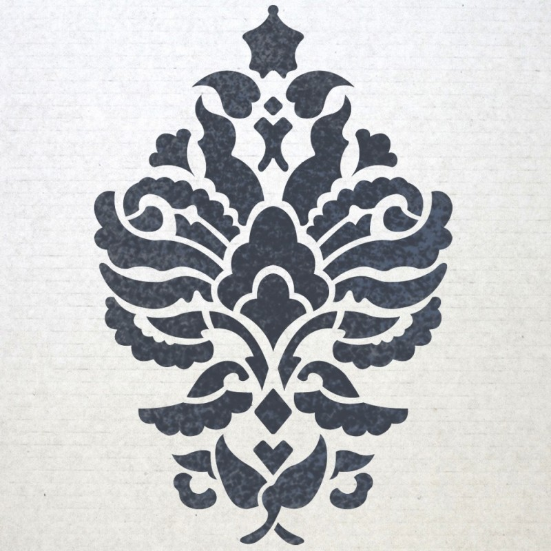 Reusable Damask Wall Stencils Gloria for Allover Wall DIY decor