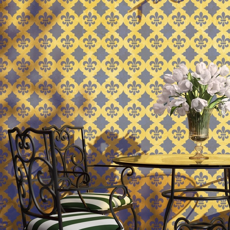 Tiziana Trellis Allover Wall Stencil Designs for home Wall decor
