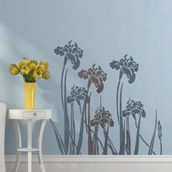 Wall stencil iris -...