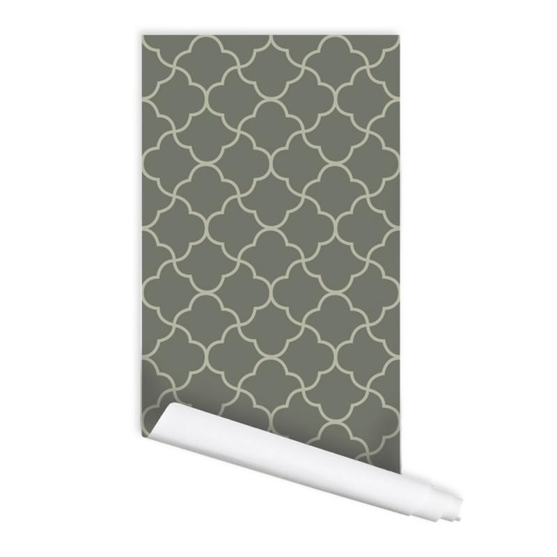 Moroccan Lattice Mekka 01 Peel & Stick Repositionable Fabric Wallpaper