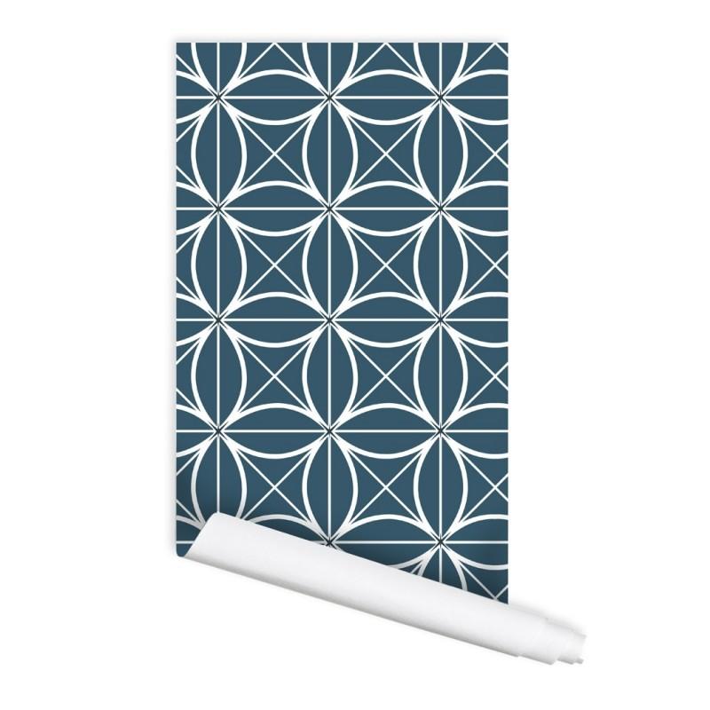 Geometric Coco 01 Peel & Stick Repositionable Fabric Wallpaper