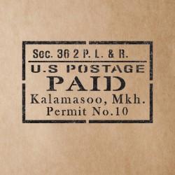 US Postage Paid Stencil...