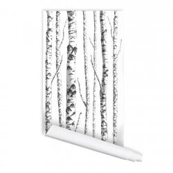 Birch Tree 01 Peel & Stick Repositionable Fabric Wallpaper