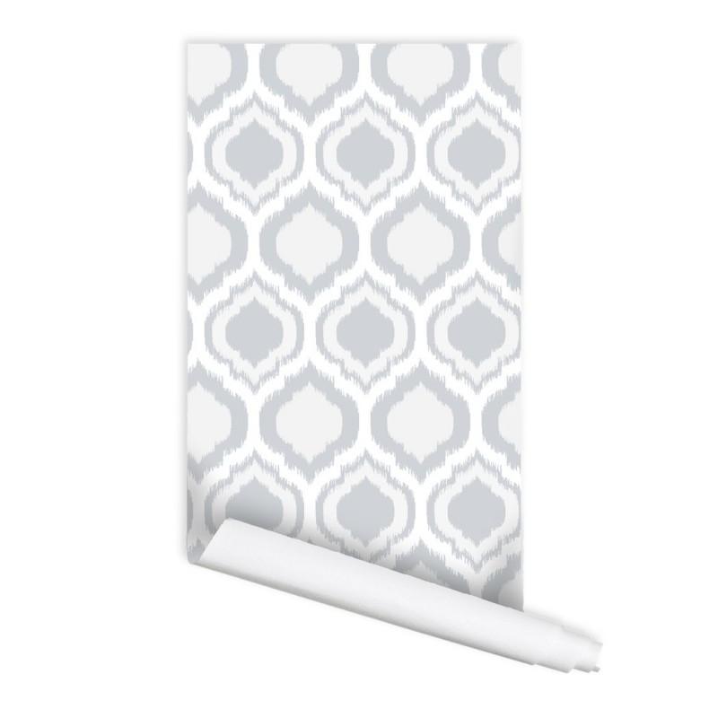 Moroccan Ikat Bazaar 01 Peel & Stick Repositionable Fabric Wallpaper