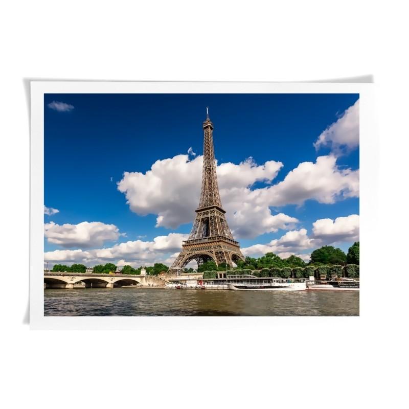 Eiffel Tower in Paris, France - Canvas Art Print Wall Deco art