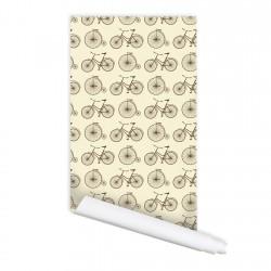 Retro Bicycle Pattern Peel...