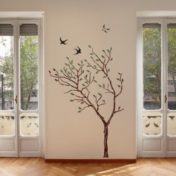 Large Tree with Birds Wall...