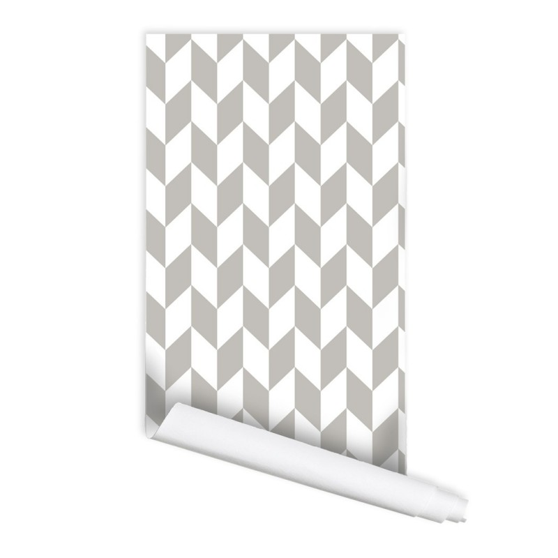 Retro Herringbone Pattern Peel & Stick Repositionable Fabric Wallpaper