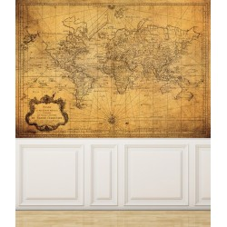 Wall Mural Vintage Map of...