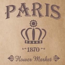 Flower Market 1870 Stencil...