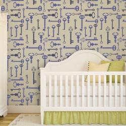 Wall Stencil Key Pattern...