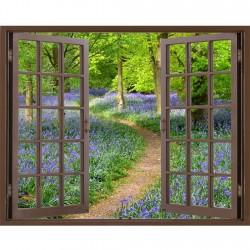 Window Frame Mural Bluebell...