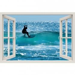 Window Frame Mural Surfers...