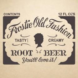 Root Beer Label Stencil...
