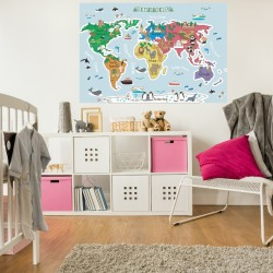 The Map of the World Fabric...