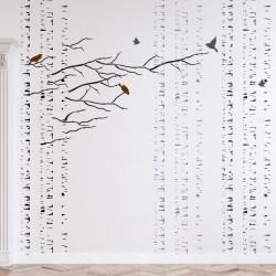 Birches Tree Stencil, Large...