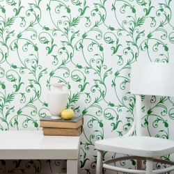 Large Floral Wall Stencil -...