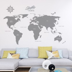 Large World Map Decal,...