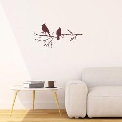 Winter Birds on Branch,...