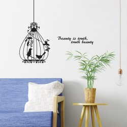 Vinyl Wall decal Caged...