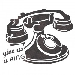 Telephone Stencil Template...