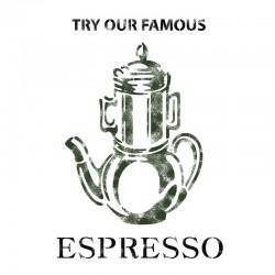 Espresso Stencil Template...