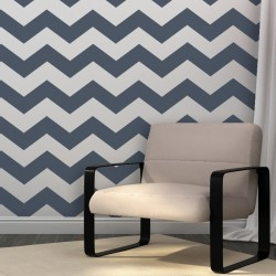 Chevron Allover Stencil -set(2 sheets)- for DIY wall decor just like wallpaper