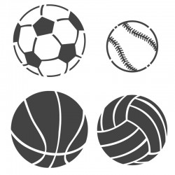 Sports ball Stencils -...