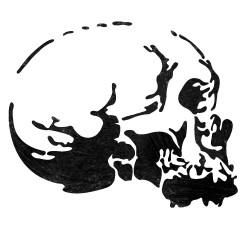 Skeleton head Stencil...