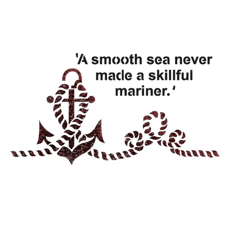 Ship Anchor Stencils for Crafting DIY Decor Wall art Reusable Template