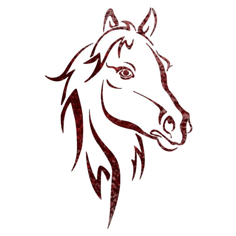 Horse Head Animal wall stencils for Wall art decor Reusable Template