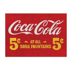 5 cent coca cola stencils...