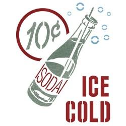 Soda Drink Stencil Reusable...